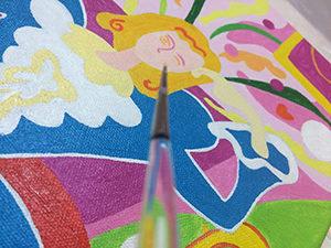 アーティストが描く原画で、世界で一つのアート作品です。 お客様のご希望の原画も作成することもできます。 詳細はお問い合わせください。